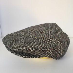 Vintage Wool blend gray cabbie hat